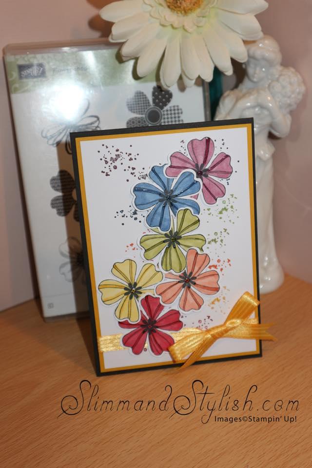 stampin u0026 39  up  fancy flower shop bright card